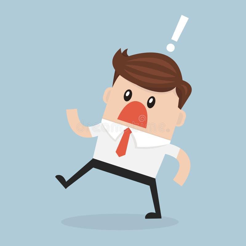 Homem de negócios com a boca largamente aberta ilustração do vetor