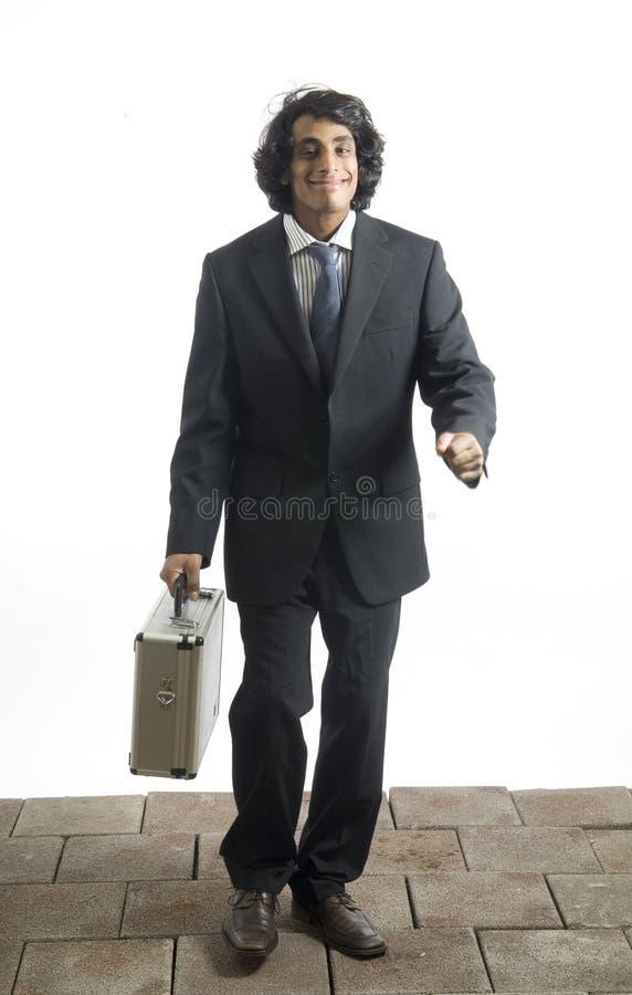 Homem de negócios com caso foto de stock royalty free