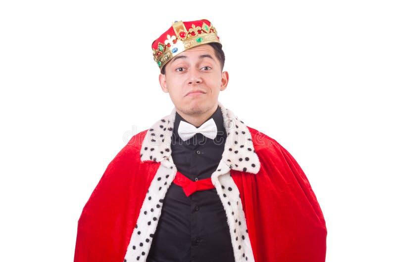 Homem de negócios com coroa fotos de stock royalty free