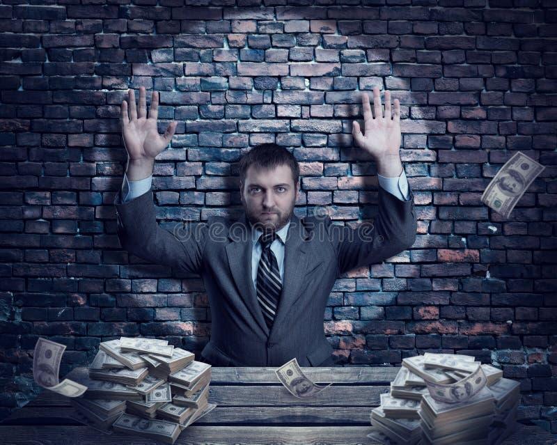 Homem de negócios com dinheiro foto de stock