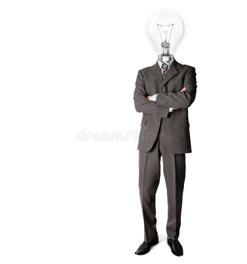 Homem de negócios com lamphead imagem de stock royalty free