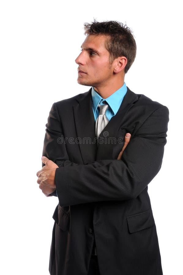 Homem de negócios com os braços cruzados imagem de stock royalty free