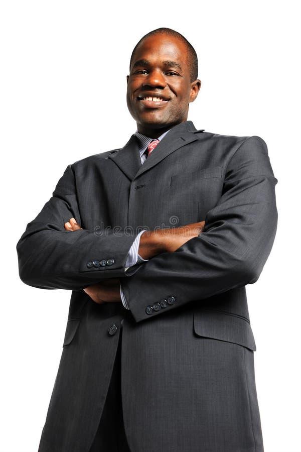 Homem de negócios com os braços cruzados fotografia de stock royalty free