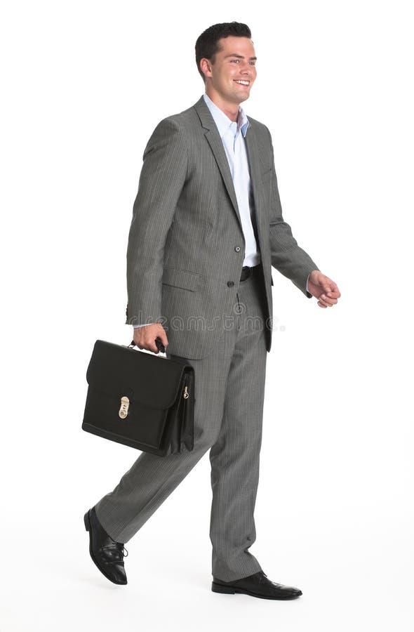 Homem de negócios com pasta fotografia de stock royalty free
