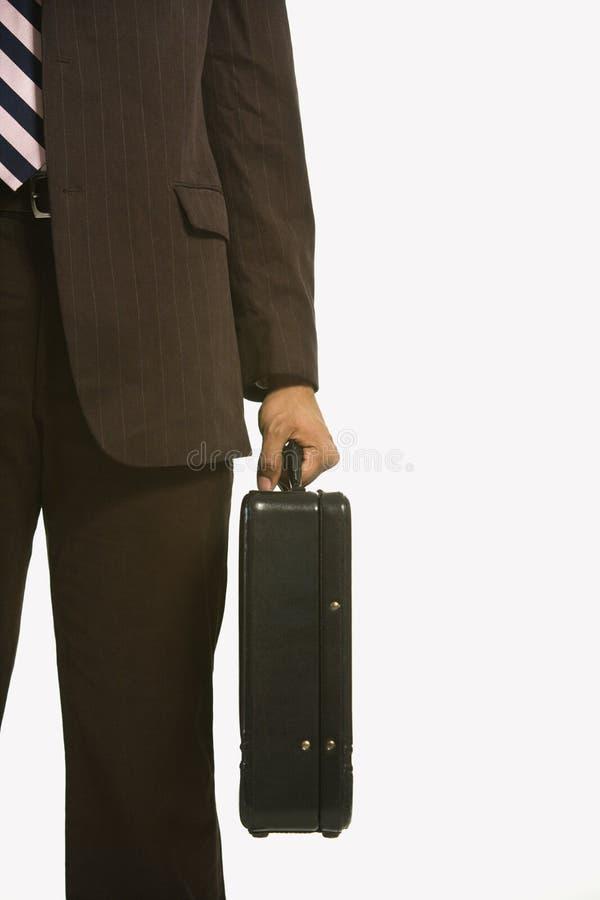 Homem de negócios com pasta. fotografia de stock royalty free