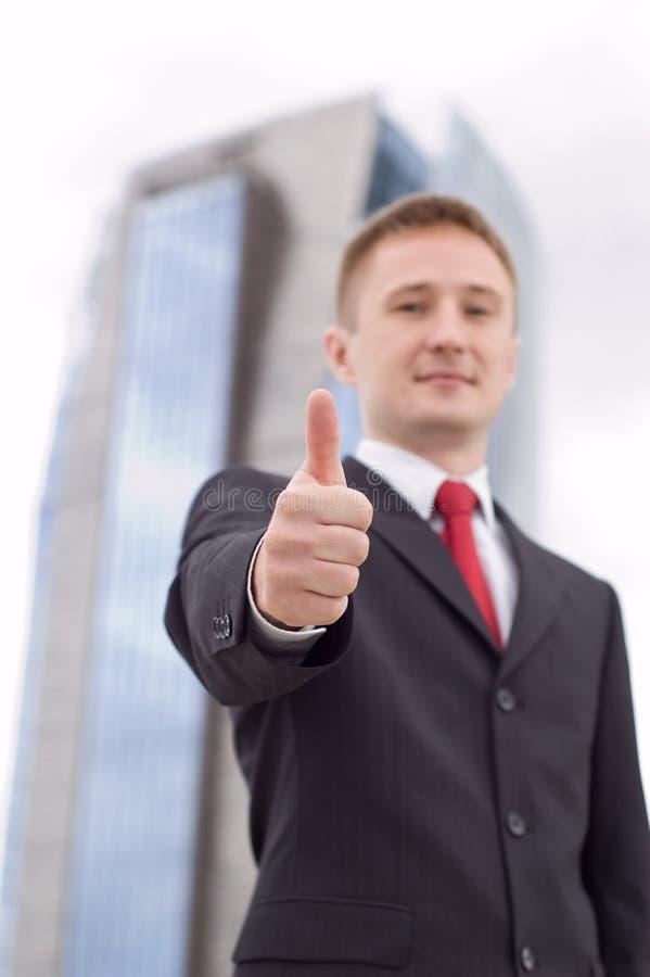 Download Homem De Negócios Com Polegar Acima Imagem de Stock - Imagem de negócio, corporation: 10055847
