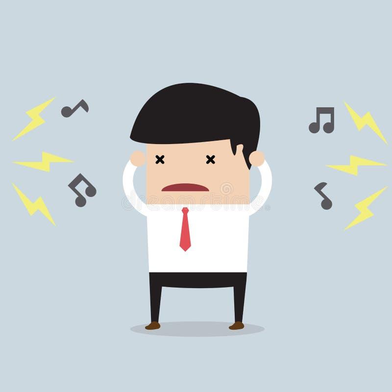 Homem de negócios com ruído ilustração do vetor