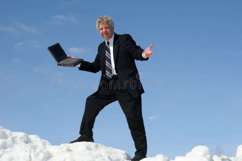 Homem de negócios com um caderno foto de stock royalty free