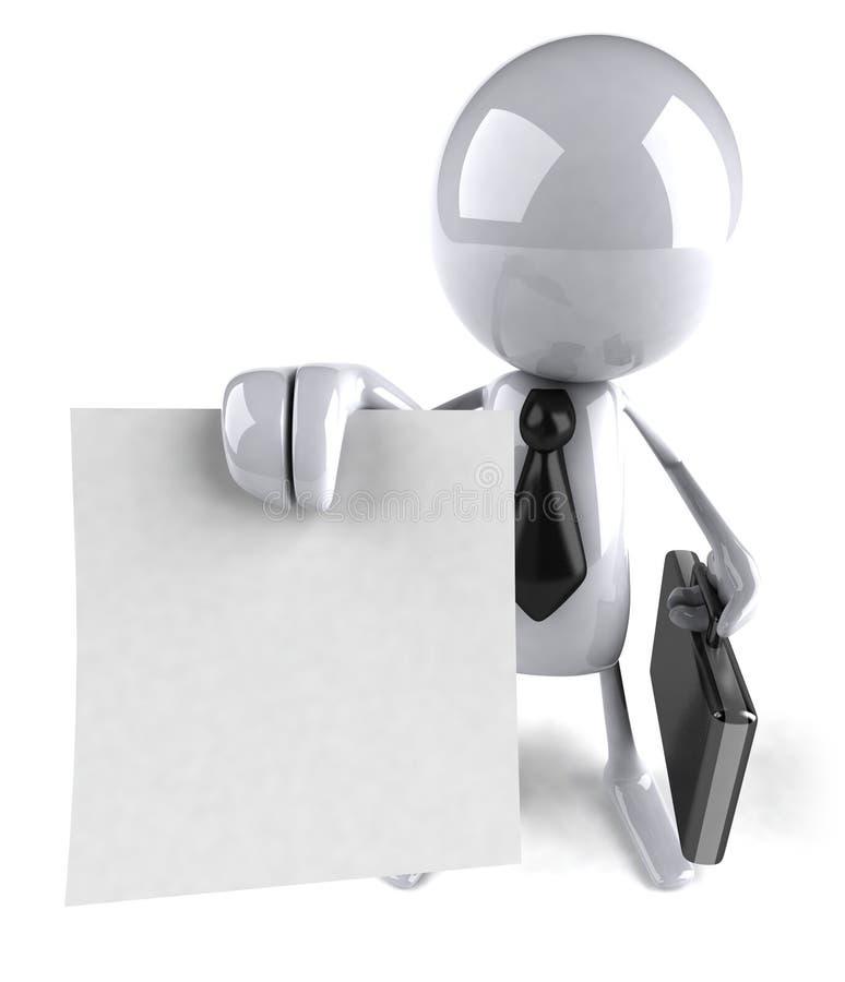 Homem de negócios com um contrato em branco ilustração stock