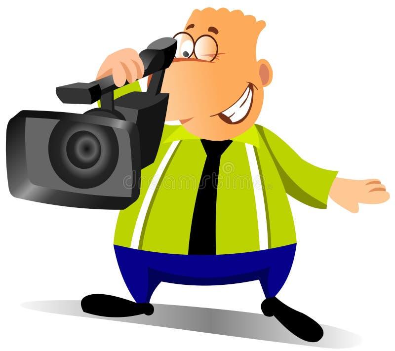 Homem de negócios com uma câmera ilustração stock