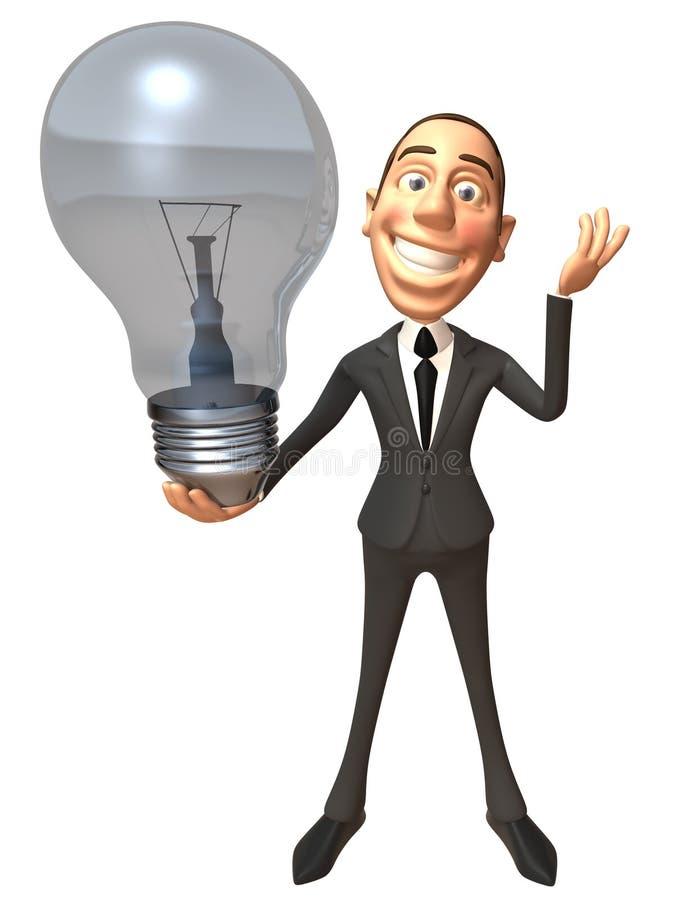 Homem de negócios com uma idéia ilustração do vetor
