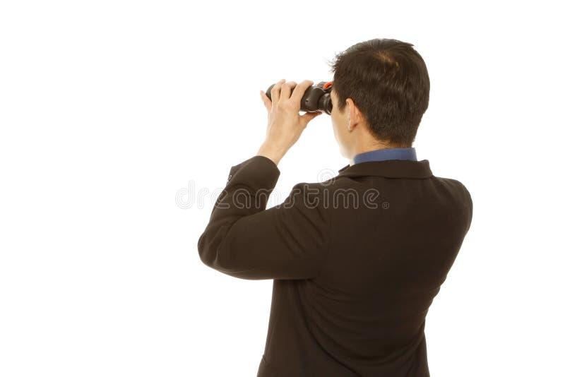 Homem de negócios com uma visão imagem de stock royalty free
