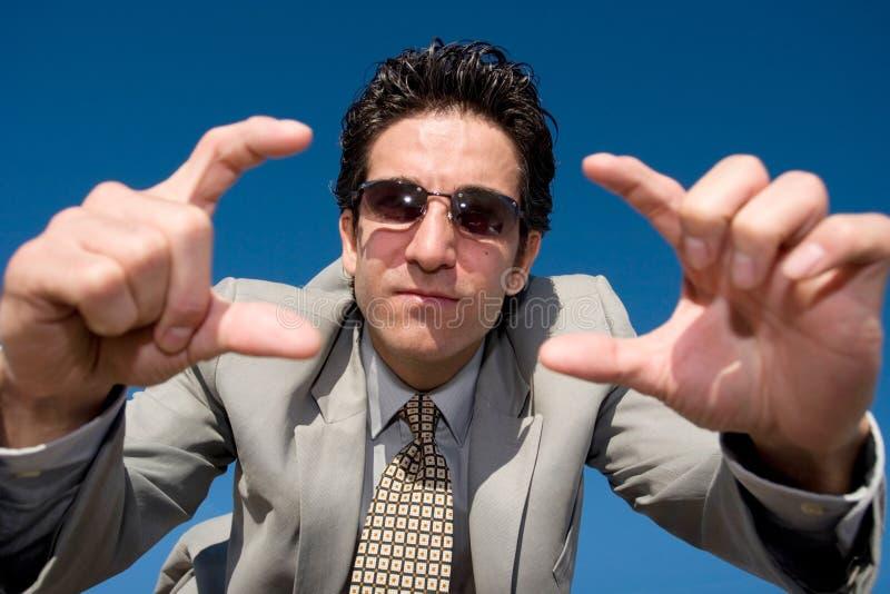Homem de negócios com visão imagem de stock