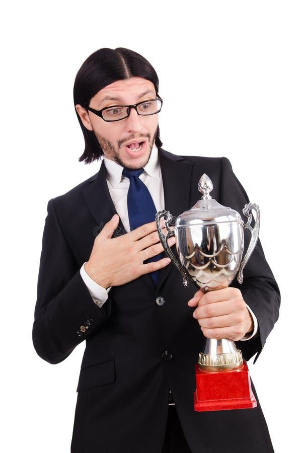 Homem de negócios concedido fotografia de stock
