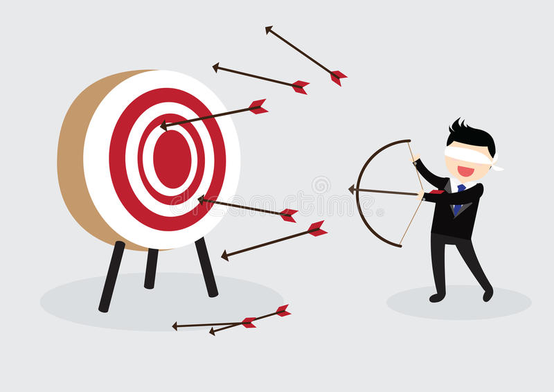 Homem de negócios Concept da venda ilustração do vetor
