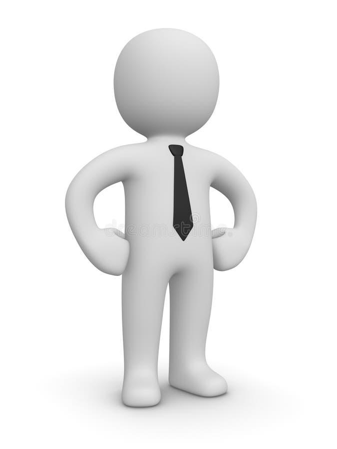 Homem de negócios confiável ilustração royalty free