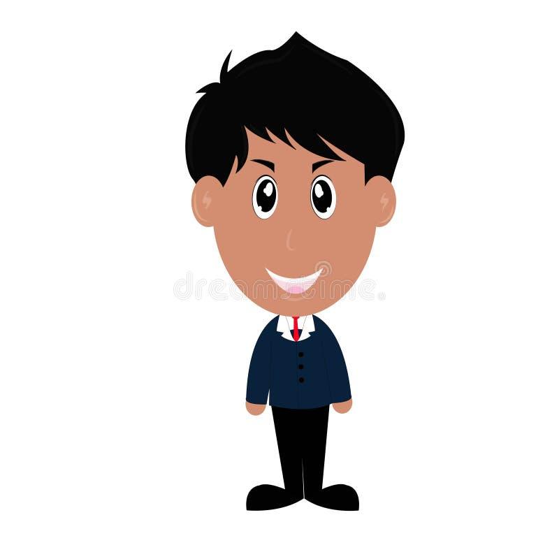 Homem de negócios confiável com os braços cruzados ilustração do vetor