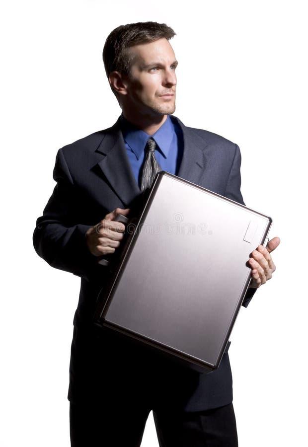 Homem de negócios confiável com pasta imagens de stock royalty free