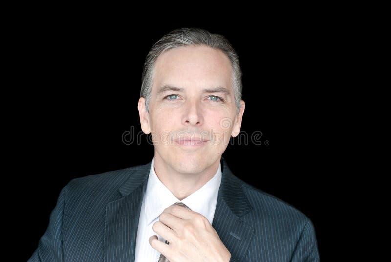 Download Homem De Negócios Confiável Que Ajusta O Laço Foto de Stock - Imagem de stylish, businessman: 26517234