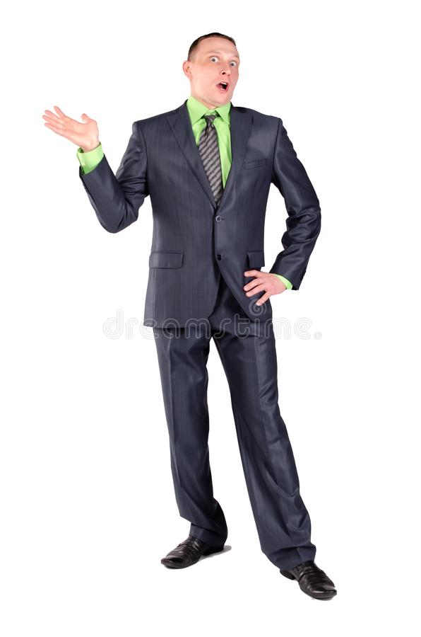 Homem de negócios confundido isolado foto de stock royalty free