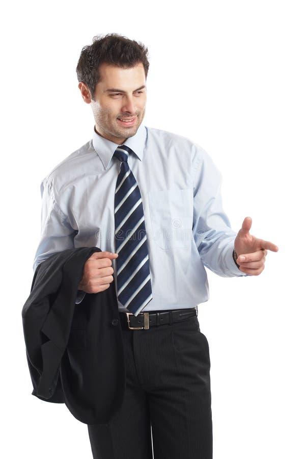 Homem de negócios considerável foto de stock royalty free
