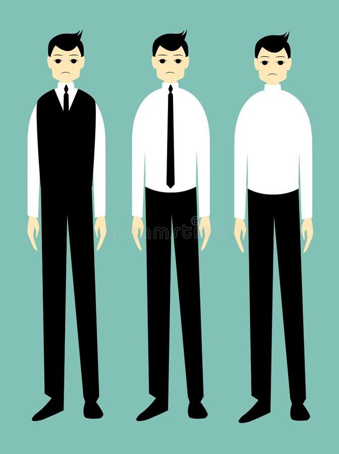 Homem de negócios considerável dos desenhos animados triste fotos de stock