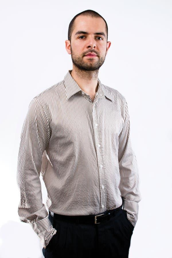 Homem de negócios da barba imagens de stock royalty free