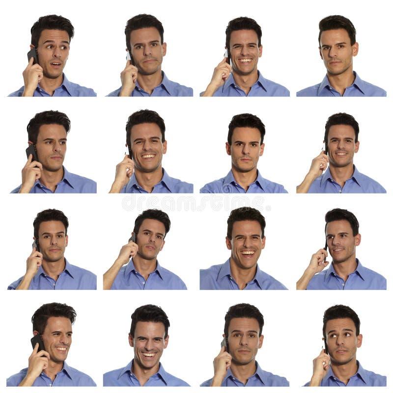 Homem de negócios da compilação foto de stock royalty free