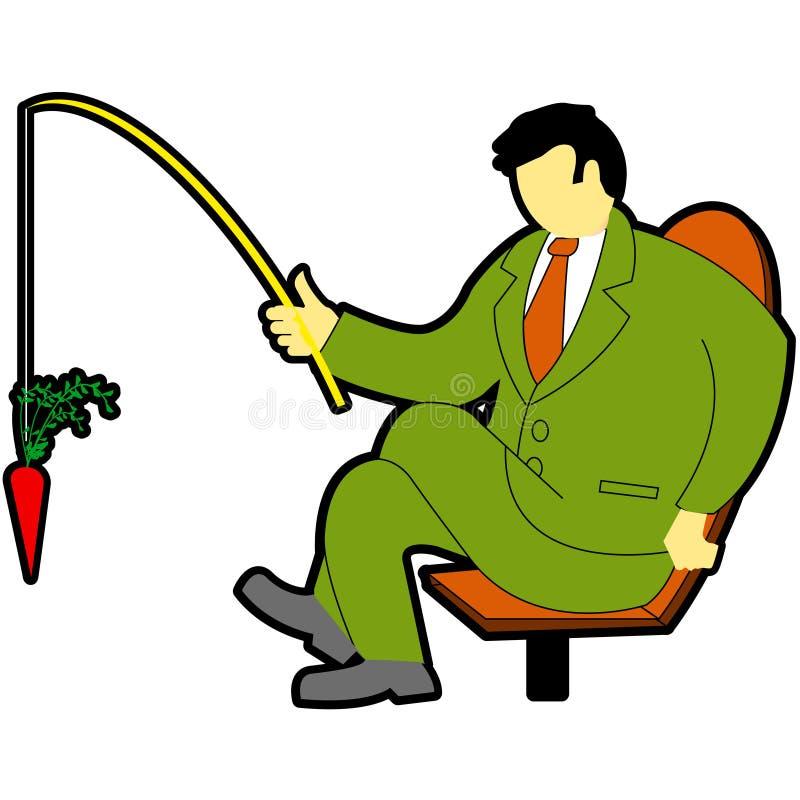 Homem de negócios da pesca ilustração stock