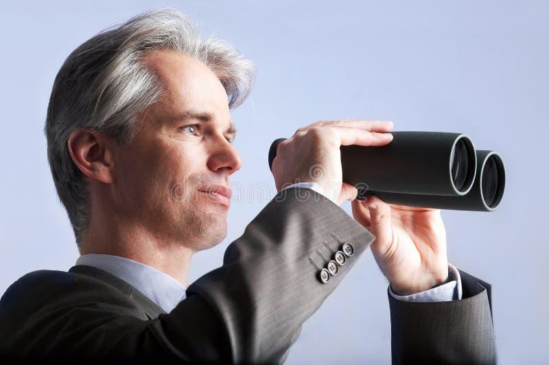 Homem de negócios da visão imagens de stock royalty free