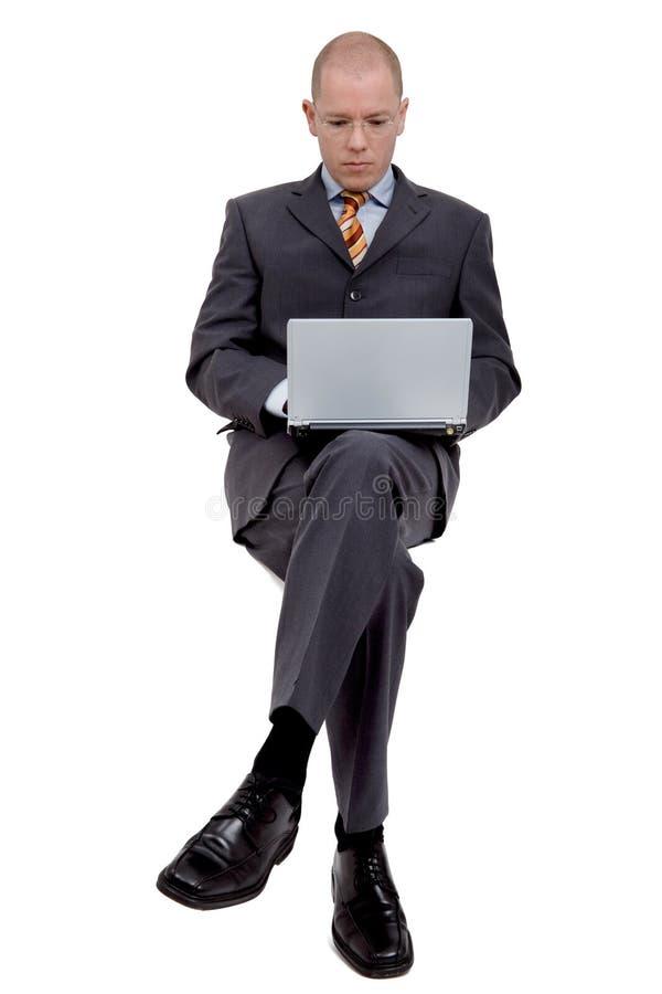 Homem de negócios de assento fotos de stock
