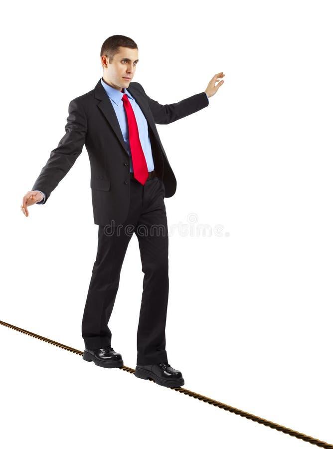 Homem de negócios de equilíbrio fotografia de stock royalty free