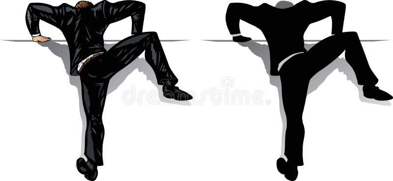 Homem de negócios de escalada ilustração do vetor