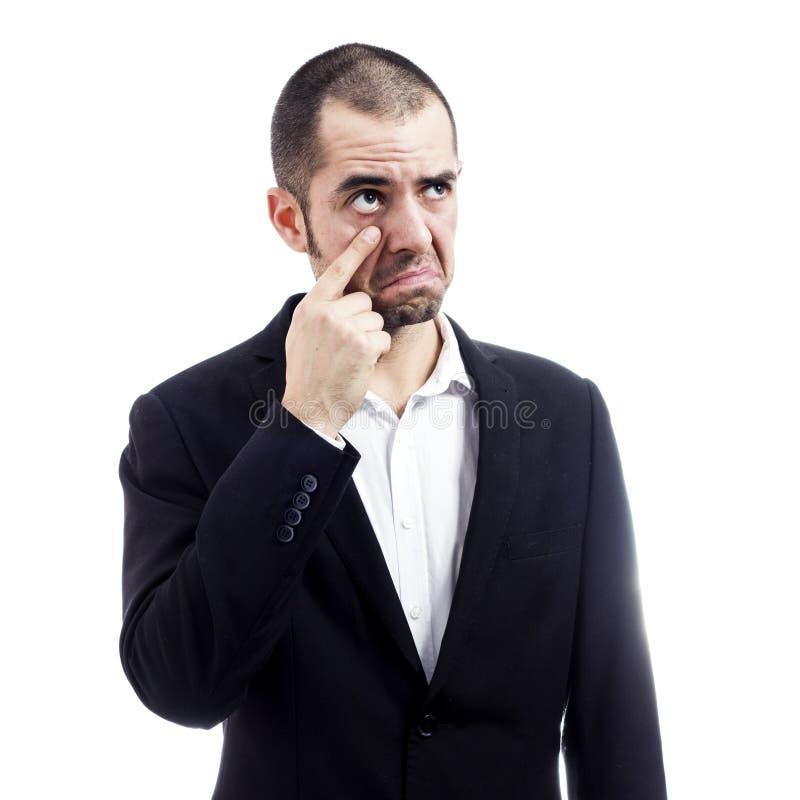 Homem de negócios de grito imagens de stock