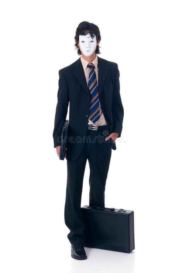 Homem de negócios de Halloween imagens de stock