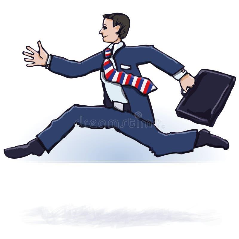 Homem de negócios de pressa ilustração stock