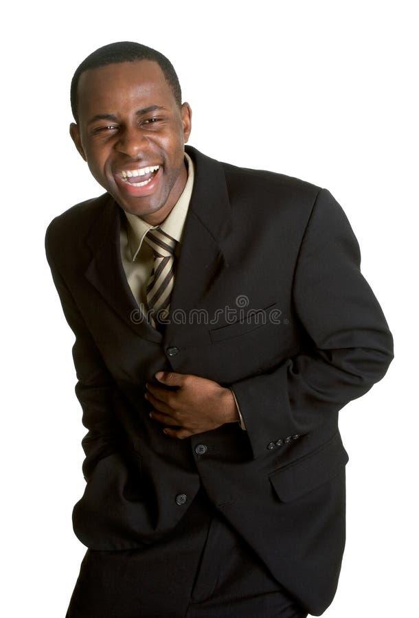Homem de negócios de riso imagem de stock