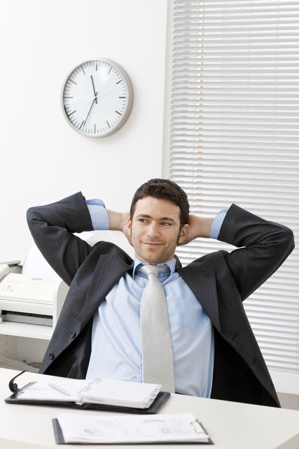 Homem de negócios de Satified imagem de stock