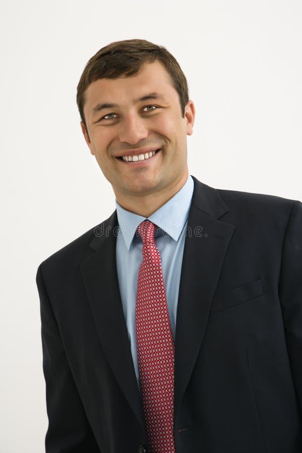 Homem de negócios de sorriso. fotos de stock