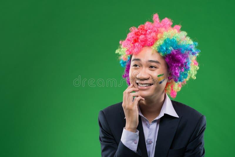 Homem de negócios de sorriso imagens de stock