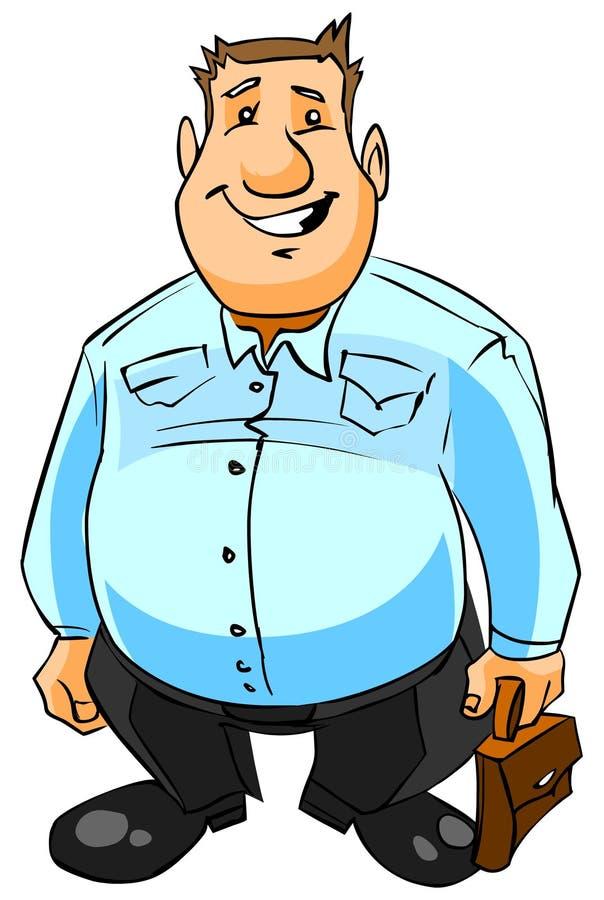 Homem de negócios de sorriso com pasta. ilustração do vetor