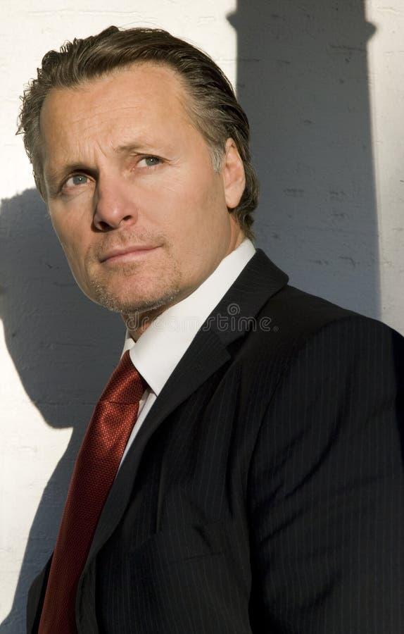 Homem de negócios de vista pensativo. imagem de stock