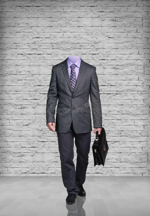 Homem de negócios decapitado foto de stock