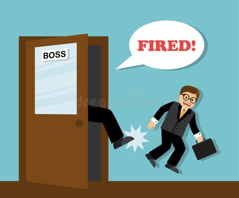 Homem de negócios demitido do trabalho ilustração stock