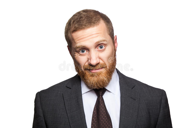 Homem de negócios descontentado infeliz foto de stock royalty free