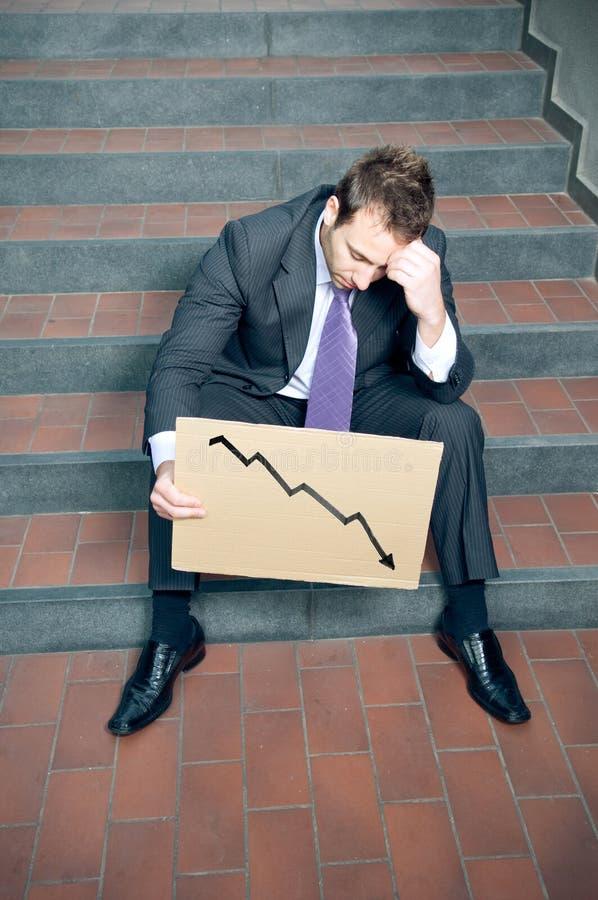 Homem de negócios desesperado imagens de stock