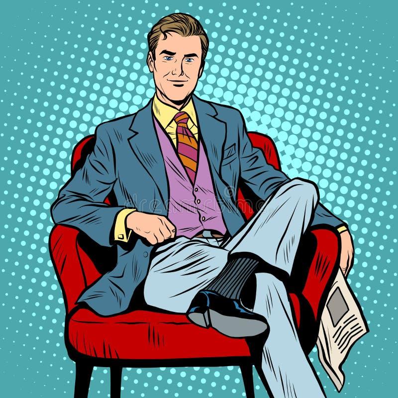 Homem de negócios Diretor do chefe ilustração stock