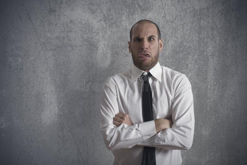 Homem de negócios Disgusted fotos de stock royalty free