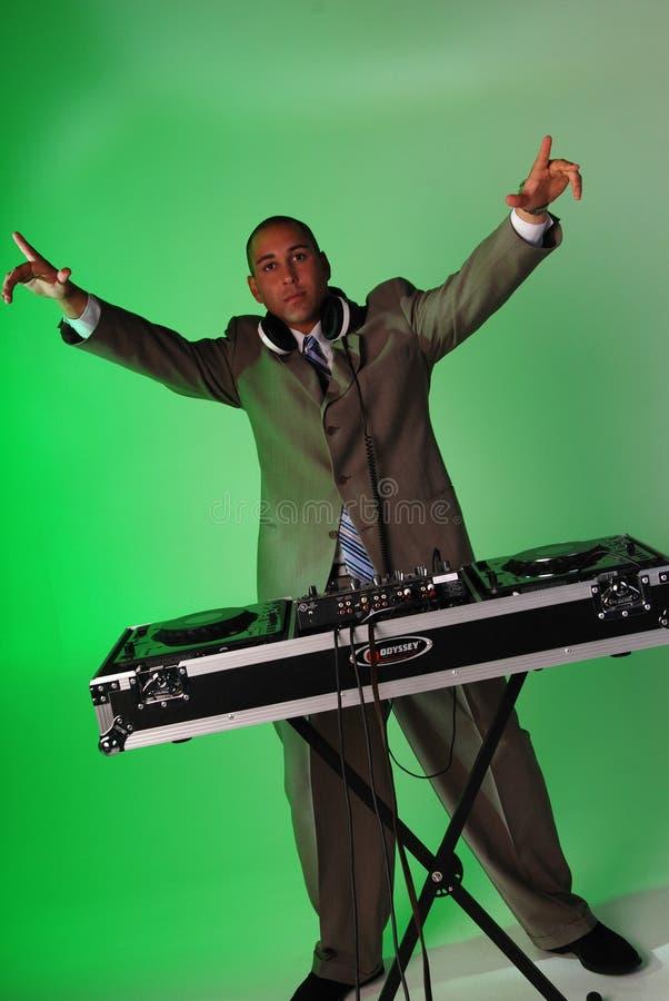 Homem de negócios DJ imagens de stock royalty free