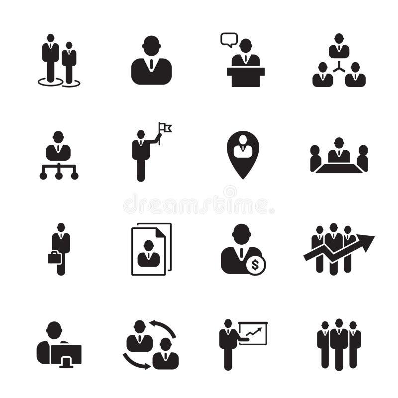Homem de negócios do ícone, vetor ilustração stock